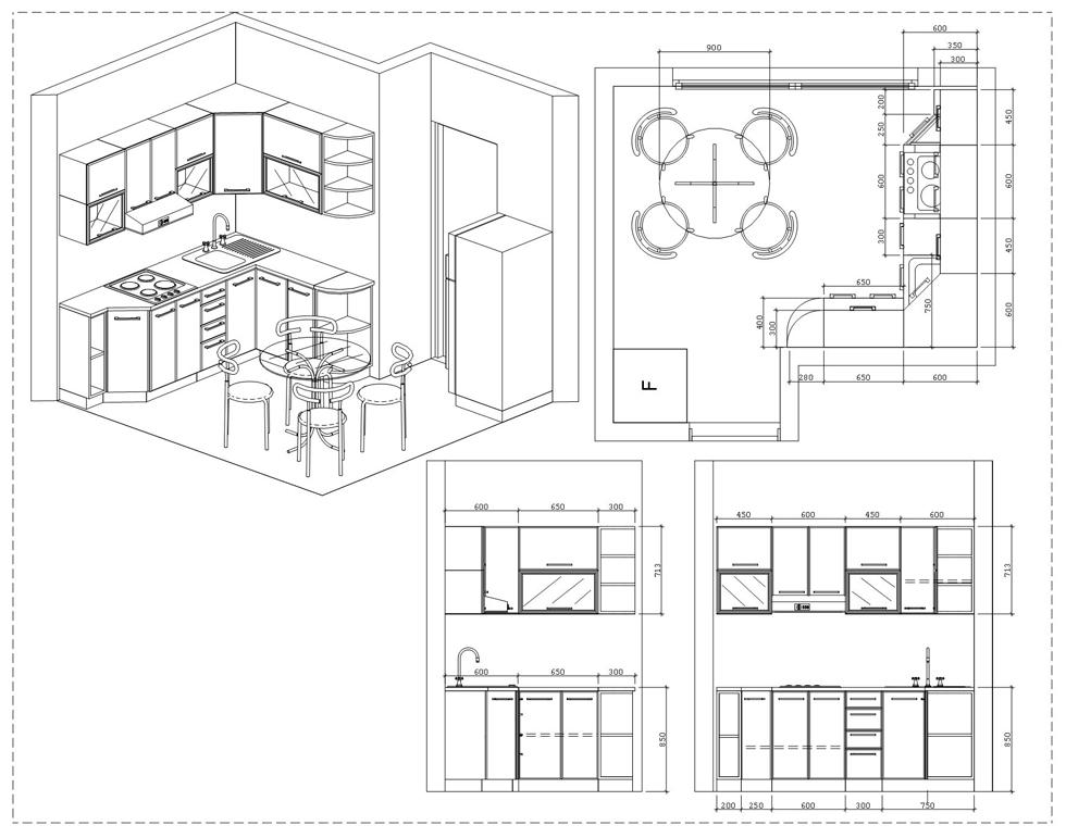 Кухня своими руками фото и чертежи